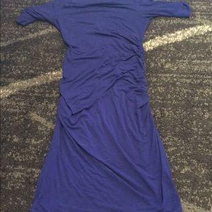 Sexy form fitting blue maternity dress size xs